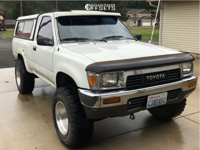 """1991 Toyota Pickup - 15x8 0mm - American Force Afw74 - Suspension Lift 2.5"""" - 25"""" x 8.5"""""""