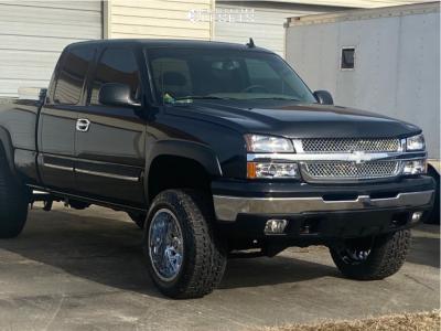 "2006 Chevrolet Silverado 1500 Classic - 20x12 -44mm - TIS 544c - Suspension Lift 4"" - 33"" x 12.5"""