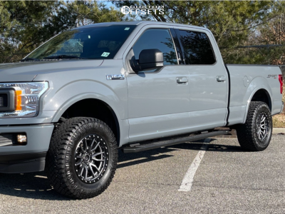 "2020 Ford F-150 - 18x9 -12mm - Fuel Rebel - Stock Suspension - 33"" x 12.5"""