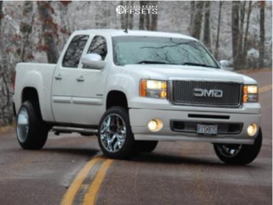 2011 GMC Sierra 1500 - 20x12 -55mm - Vision Sliver - Stock Suspension - 285/65R20