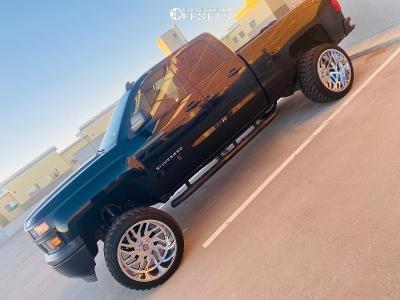 """2015 Chevrolet C1500 - 24x14 -76mm - TIS 544c - Suspension Lift 6"""" - 37"""" x 13.5"""""""