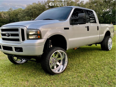 """2005 Ford F-350 Super Duty - 24x14 -76mm - American Force Independence - Suspension Lift 6.5"""" - 33"""" x 12.5"""""""