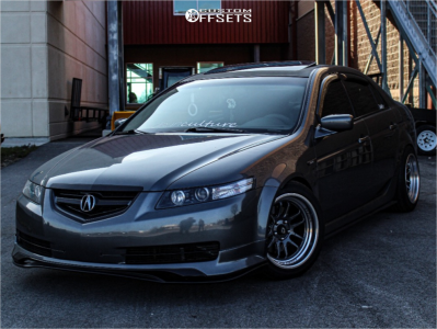 2006 Acura TL - 17x9 5mm - Cosmis Racing Xt-206r - Coilovers - 235/45R17