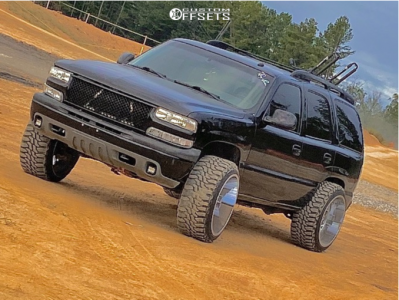 """2006 Chevrolet Tahoe - 24x14 -76mm - Xtreme Force Xf8 - Suspension Lift 4.75"""" - 35"""" x 12.5"""""""