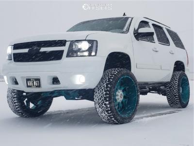 "2010 Chevrolet Tahoe - 24x12 -44mm - Hardcore Offroad Hc05 - Suspension Lift 7.5"" - 35"" x 12.5"""
