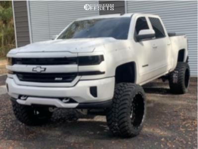 "2016 Chevrolet Silverado 1500 - 22x14 -76mm - TIS 544bm - Suspension Lift 9"" - 35"" x 15.5"""