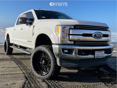 "2017 Ford F-350 Super Duty - 24x12 -51mm - Vision Rocker - Suspension Lift 4"" - 35"" x 12.5"""