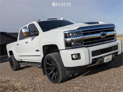 """2019 Chevrolet Silverado 3500 HD - 22x10 -18mm - Fuel Contra - Level 2"""" Drop Rear - 305/45R22"""