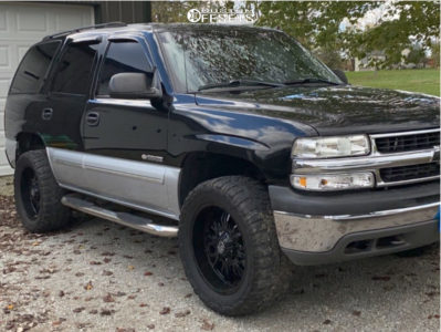 """2003 Chevrolet Tahoe - 20x9 -12mm - Panther Offroad 580 - Stock Suspension - 33"""" x 12.5"""""""