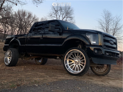 "2015 Ford F-250 Super Duty - 26x14 -76mm - American Force Nemesis Sfcc - Suspension Lift 4"" - 35"" x 13.5"""