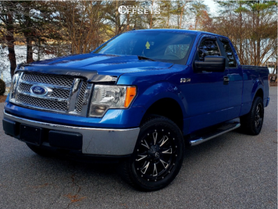 """2009 Ford F-150 - 20x10 -24mm - Fuel Throttle - Stock Suspension - 32"""" x 10.5"""""""