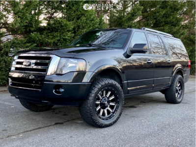 """2012 Ford Expedition - 20x9 2mm - Fuel Hardline - Leveling Kit & Body Lift - 33"""" x 12.5"""""""
