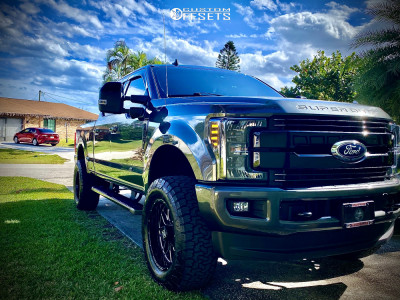 2019 Ford F-350 Super Duty - 20x10 -12mm - Lethal Offroad Lt03 - Leveling Kit - 325/60R20