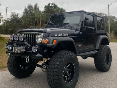 "2006 Jeep TJ - 17x10 -24mm - Fuel Maverick - Suspension Lift 8"" - 37"" x 13.5"""