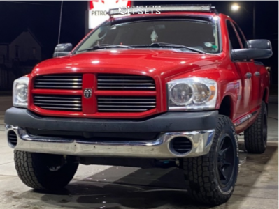 "2008 Dodge Ram 1500 - 18x9 18mm - Fast Hd Grinder - Leveling Kit - 33"" x 11.5"""