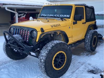 "2015 Jeep Wrangler - 17x9 -12mm - Vision Nemesis - Suspension Lift 3.5"" - 38"" x 13.5"""