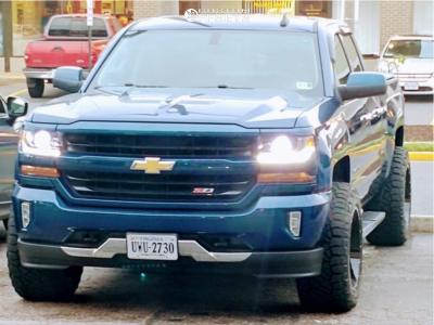"""2016 Chevrolet 1500 - 20x12 -44mm - Moto Metal Mo988 - Suspension Lift 4"""" - 305/55R20"""