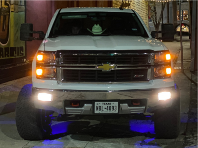 "2015 Chevrolet Silverado 1500 - 22x14 -73mm - American Force Atom Ss - Suspension Lift 7.5"" - 33"" x 12.5"""