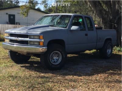 "1994 Chevrolet K1500 - 15x12 -44mm - Mickey Thompson Classic Ii - Stock Suspension - 35"" x 12.5"""