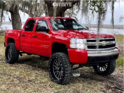 "2008 Chevrolet Silverado 1500 - 26x12 -44mm - TIS 547bm - Suspension Lift 7.5"" - 37"" x 13.5"""