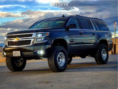 "2015 Chevrolet Suburban - 17x9 -12mm - Method Mr315 - Suspension Lift 7"" - 35"" x 12.5"""