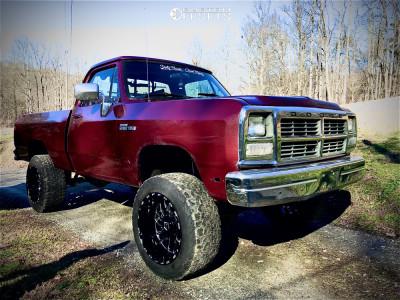 "1991 Dodge W150 - 20x12 -54mm - Tis Forged 544bm - Suspension Lift 4"" - 35"" x 12.5"""