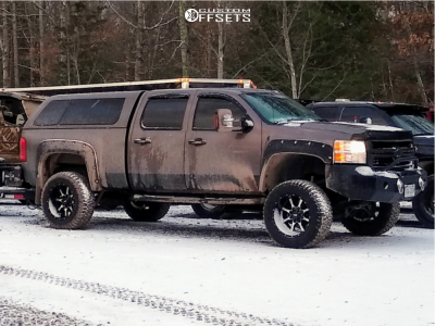 "2008 Chevrolet Silverado 2500 HD - 20x12 -44mm - Moto Metal Mo970 - Suspension Lift 6"" - 35"" x 12.5"""