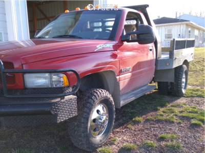 """1998 Dodge Ram 3500 Dually - 16x6 102mm - Alloy Ion Style 167 - Stock Suspension - 32"""" x 10.5"""""""