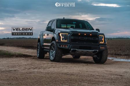 """2020 Ford Raptor - 20x9 12mm - Velgen Vft9 - Stock Suspension - 35"""" x 12.5"""""""