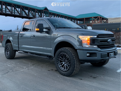 2019 Ford F-150 - 20x10 -18mm - Fuel Rebel - Leveling Kit - 285/60R20