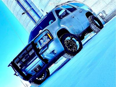 "2009 Chevrolet Tahoe - 20x12 -44mm - Hardrock Gunner H705 - Suspension Lift 3.5"" - 33"" x 12.5"""