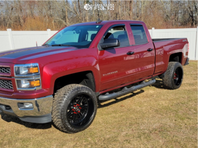 "2015 Chevrolet Silverado 1500 - 22x12 -44mm - Hostile Lunatic - Suspension Lift 3.5"" - 33"" x 12.5"""