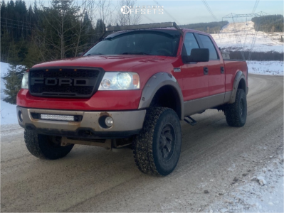 """2006 Ford F-150 - 18x10 -24mm - Fuel Cleaver - Suspension Lift 6"""" - 35"""" x 12.5"""""""