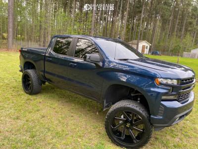 "2020 Chevrolet Silverado 1500 - 24x12 -51mm - ARKON OFF-ROAD Lincoln - Suspension Lift 6"" - 35"" x 13.5"""