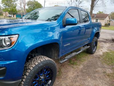 """2019 Chevrolet Colorado - 20x9 19mm - Fuel Stroke - Suspension Lift 6"""" - 275/60R20"""