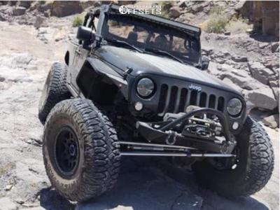 "2009 Jeep Wrangler JK - 17x9 -12mm - Vision Manx - Suspension Lift 3.5"" - 40"" x 13.5"""