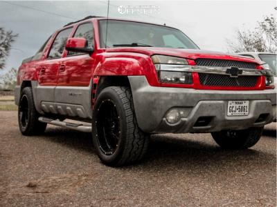 2002 Chevrolet Avalanche 1500 - 22x10 -19mm - Vision Rocker - Stock Suspension - 305/50R22