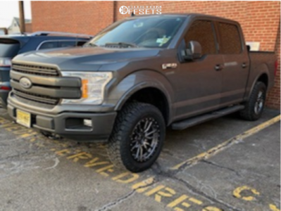2020 Ford F-150 - 20x9 1mm - Fuel Rebel - Leveling Kit - 275/65R20