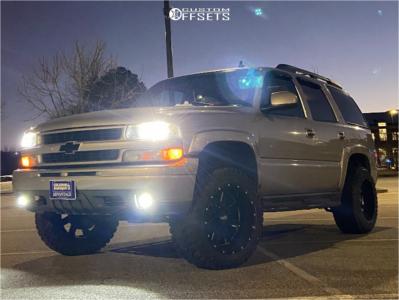 """2006 Chevrolet Tahoe - 20x12 -44mm - Moto Metal Mo962 - Leveling Kit - 33"""" x 12.5"""""""