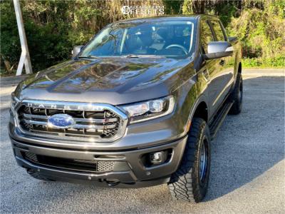 2019 Ford Ranger - 18x9 18mm - Vision Nemesis - Leveling Kit - 275/65R18