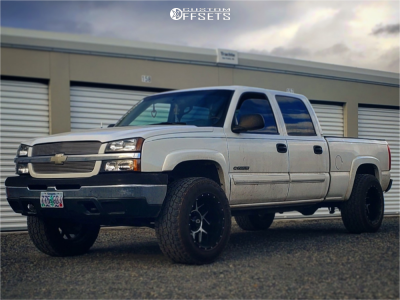 "2003 Chevrolet Silverado 1500 HD - 20x12 -51mm - Vision Sliver - Stock Suspension - 35"" x 12.5"""