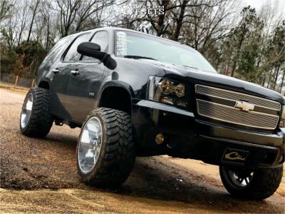 "2009 Chevrolet Tahoe - 22x14 -76mm - Vision Spider - Suspension Lift 3.5"" - 33"" x 14.5"""