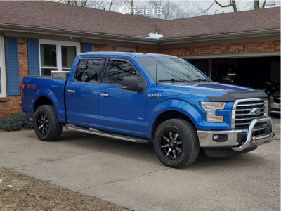 """2015 Ford F-150 - 18x9 -12mm - Vision Manic - Stock Suspension - 31"""" x 8.5"""""""