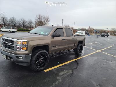2014 Chevrolet Silverado 1500 - 22x10 -24mm - Ballistic Rage - Leveling Kit - 325/50R22