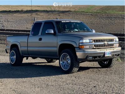 """2001 Chevrolet Silverado 1500 - 20x12 -44mm - RBP 76r - Stock Suspension - 33"""" x 12.5"""""""