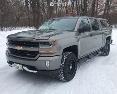 "2017 Chevrolet Silverado 1500 - 17x9 0mm - Anthem Off-Road Intimidator - Leveling Kit - 31"" x 9.5"""