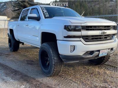"2016 Chevrolet 1500 - 20x12 -51mm - ARKON OFF-ROAD Lincoln - Suspension Lift 7"" - 37"" x 12.5"""
