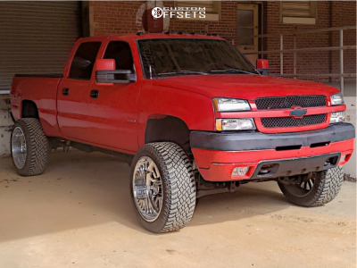 "2004 Chevrolet Silverado 2500 HD - 24x12 -44mm - American Force Atom Ss - Suspension Lift 6"" - 325/45R24"
