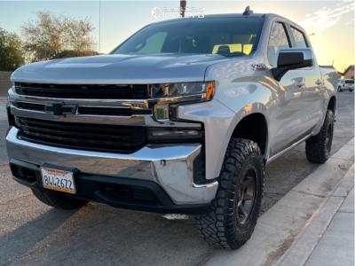 "2020 Chevrolet Silverado 1500 - 18x9 0mm - Icon Alloys Rebound - Suspension Lift 4"" - 285/75R18"