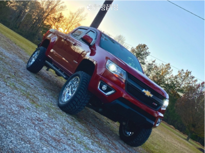 "2016 Chevrolet Colorado - 20x12 -44mm - RBP Scorpion - Suspension Lift 6"" - 33"" x 12.5"""